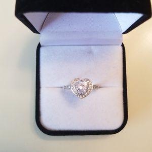 Nib 2.6  Carat Heart Shaped Diamond Ring Size 6